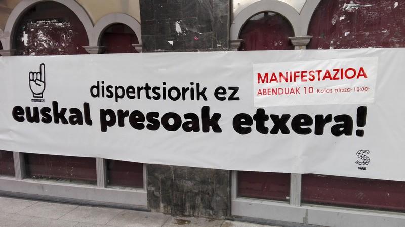 Abenduak 10: Euskal presoen giza eskubideen aldeko manifestazioa