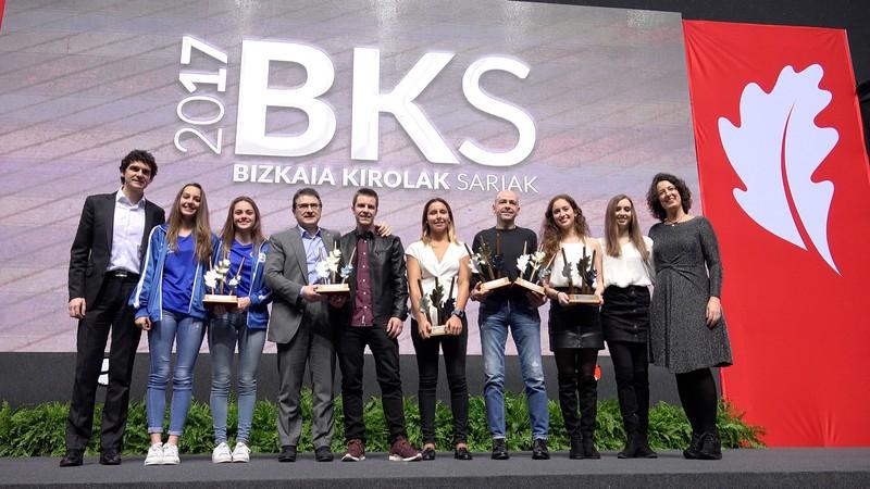 Sakoneta gimnastika-taldeak irabazi du taldekako Bizkaia Kirolak saria