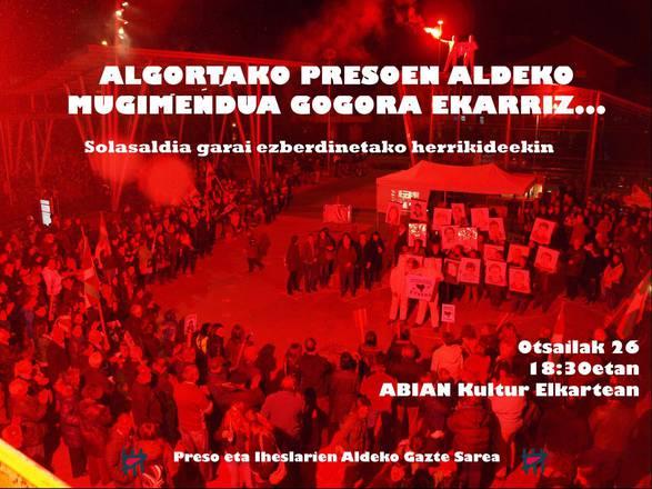 Otsailak 26: Algortako presoen aldeko mugimendua gogora ekarriz...