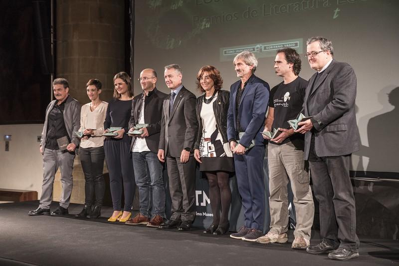 Aurtengo Euskadi Literatura Sariak banatu dituzte