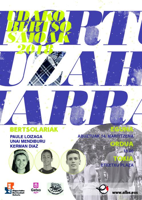 PORTU ZAHARREKO BERTSO SAIOAK! - 2
