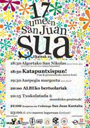 Umeen San Juan Sua jaia ekainaren 23an