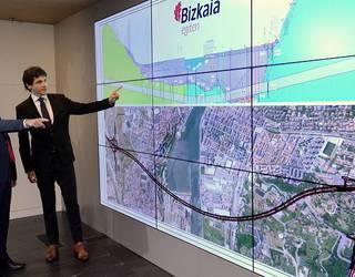 Tunelaren ibilbidea aurkeztu du Bizkaiko Foru Aldundiak; 300 eta 400 milioi arteko kostua izango du proiektuak