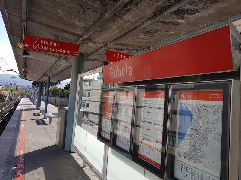 Gobela metro-geltokia itxita egongo da azaroaren 13tik 17ra