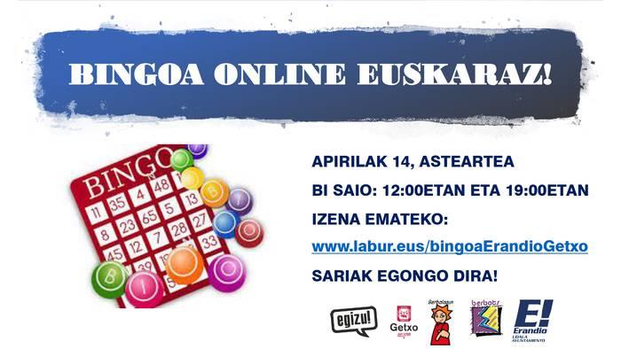 Etxealdiko orduak arintzeko, euskarazko bingoa online