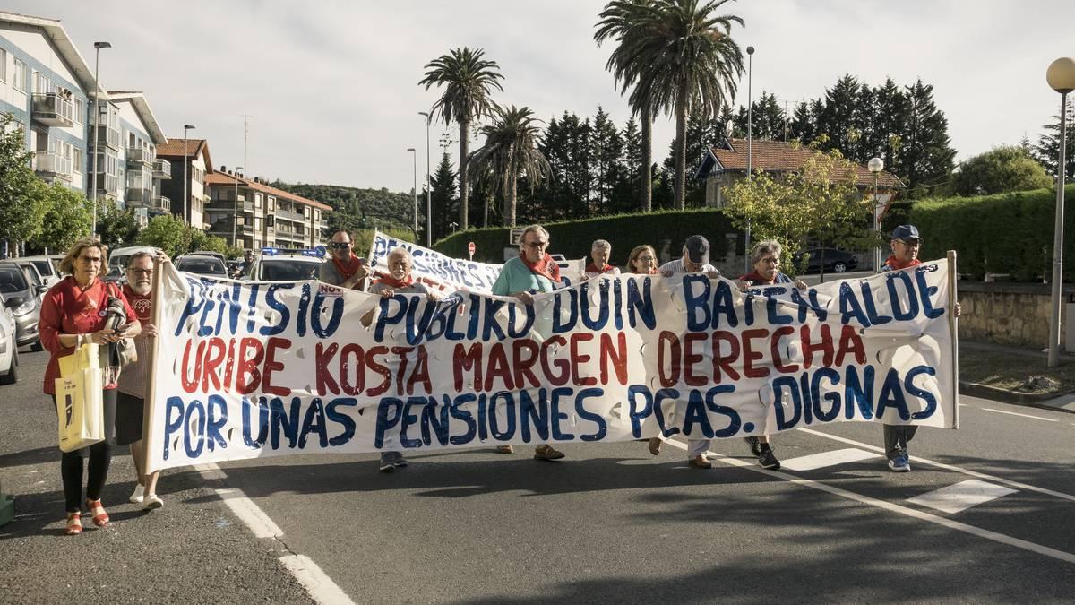 Manifestazioa egingo dute Uribe Kostako pentsiodunek Plentzian