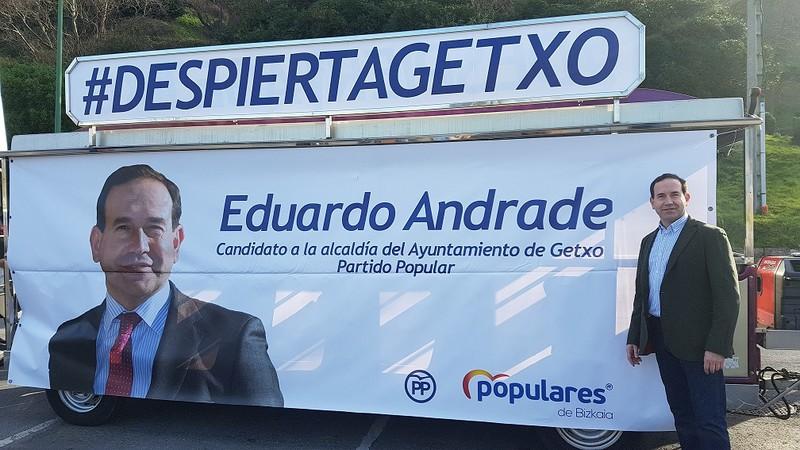 Lan publikoak egiteko hainbat proposamen berreskuratu ditu Eduardo Andrade PPren alkategaiak