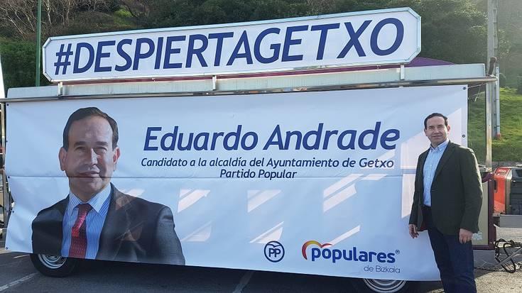 """Eduardo Andrade: """"Lozorro jeltzaletik esnatu behar dira getxoztarrak, gure udalerria erreferente izan dadin berriro"""""""