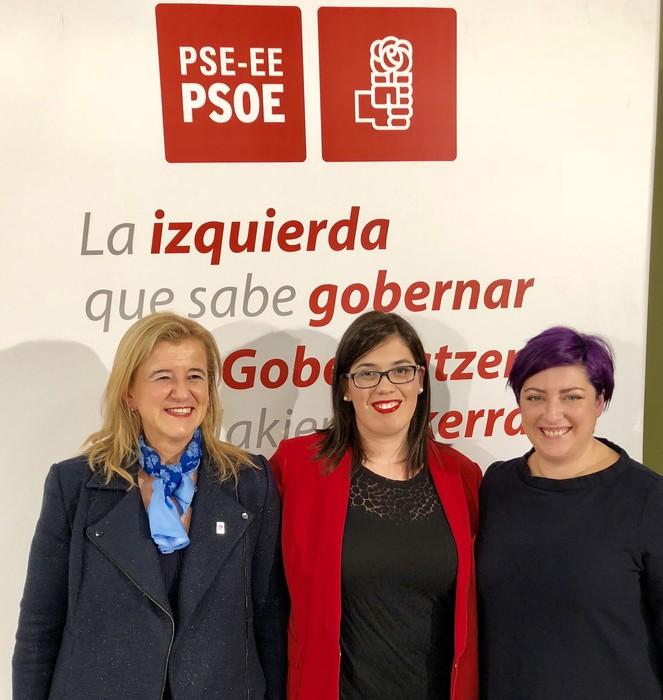 """""""Pertsonengan pentsatzen duen politika"""" egingo duela agindu du Carmen Díaz Getxoko PSE-EEren alkategaiak"""