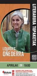 Literatura topaketak: Lourdes Oñederra