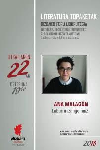 Literatura topaketak: Ana Malagón
