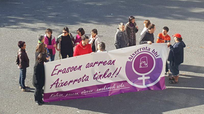 Yolanda Jaénen hilketa salatu dute Getxon