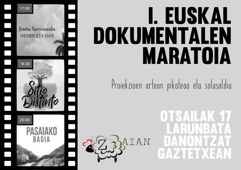 Euskal dokumentalen maratoia egingo dute zapatuan