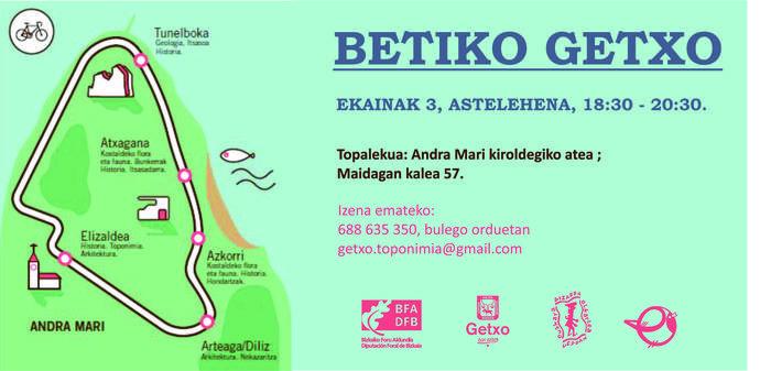 Betiko Getxo ibilbide toponimikoa