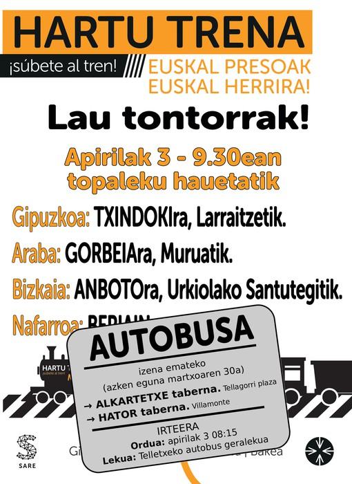 Apirilaren 3an Anbotora joateko autobusa #HartuTrena