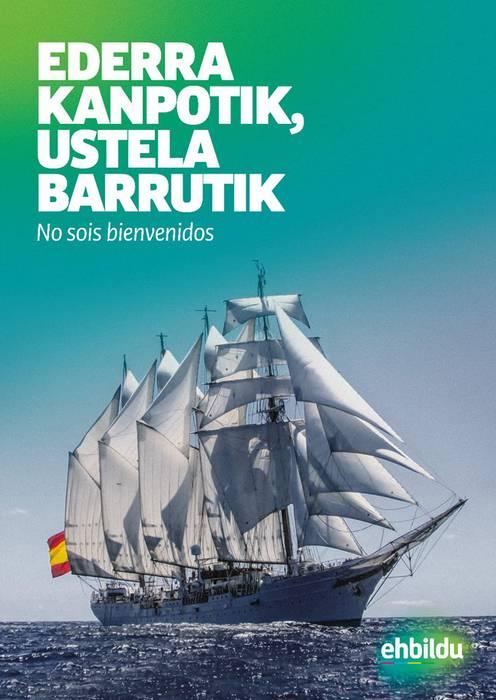 """""""Juan Sebastián Elcano"""" Armadako ontziari ez!"""