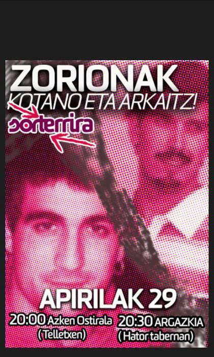 ZORIONAK AITOR ETA ARKAITZ!