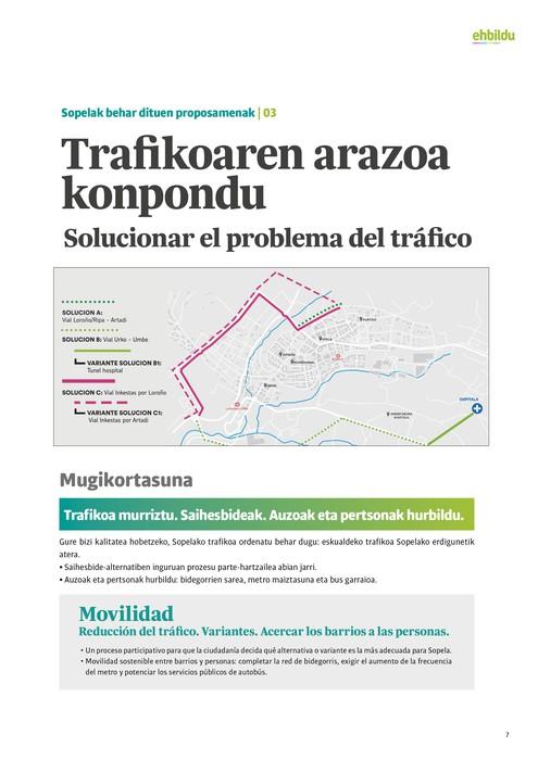 """Txabi Arribalzaga, EH Bilduko zinegotzigaia: """"Zarata eta trafiko gutxiago, oinezkoentzat leku gehiago"""""""