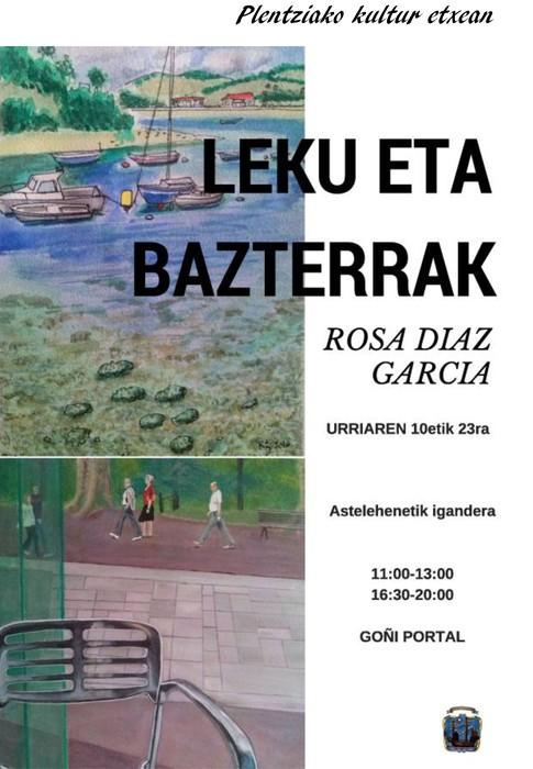 """Rosa Díaz Garcíaren """"Leku eta Bazterrak"""" erakusketa ikusgai dago Plentzian"""