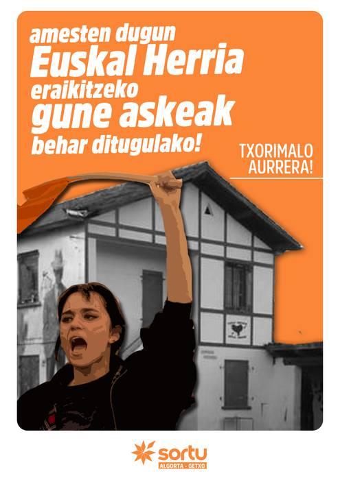 Amesten dugun Euskal Herria eraikitzeko gune askeak behar ditugulako, Txorimalo aurrera!