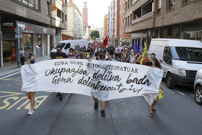Okupazioaren aldeko manifestazioa egingo dute zapatuan Algortan