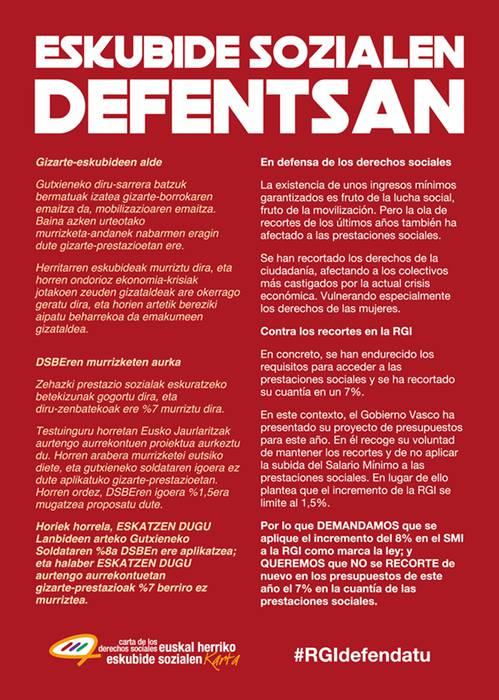 Eskubide sozialen defentsan! DSBE (RGI) defendatu!