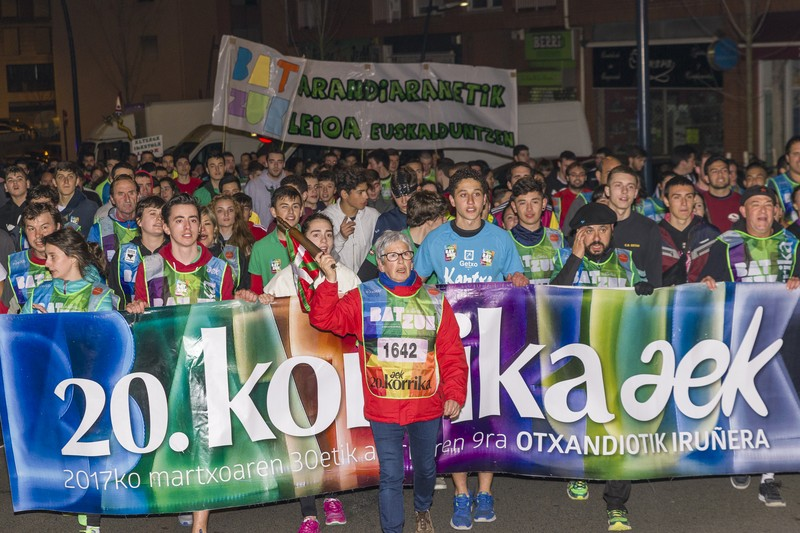Korrika, Uribe Kostan barrena - 102
