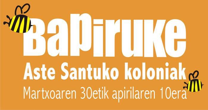 Aste Santuko Kolonietarako izen ematea