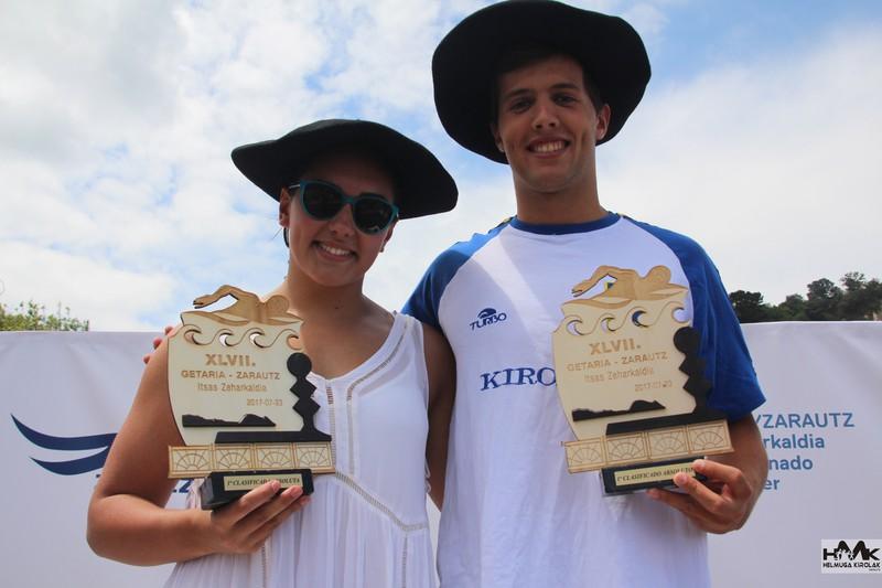 Itxaso Alonsok irabazi du Getaria-Zarautz itsas zeharkaldia