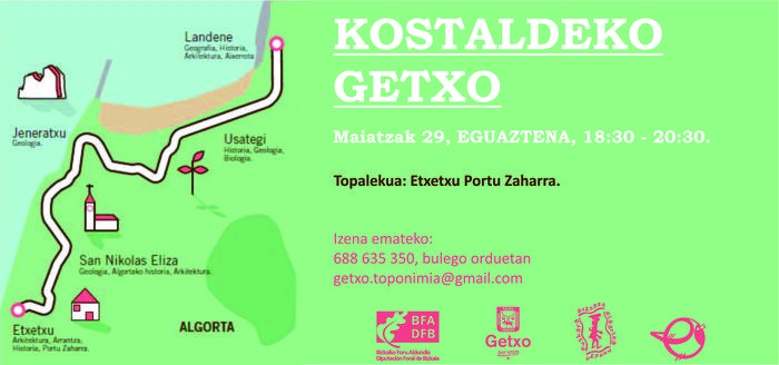 Kostaldeko Getxo ibilbide toponimikoa