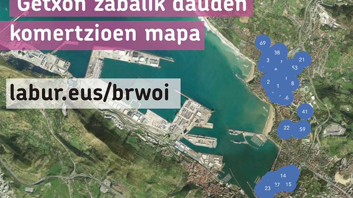 Zabalik dauden komertzioen mapa osatu du Getxoko EH Bilduk