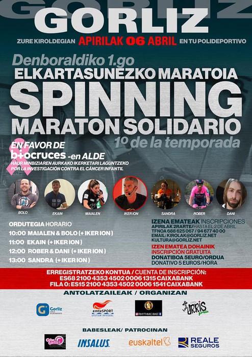 Spinning bizikleta-martxa solidarioa egingo du Los Urris Gorlizko taldeak