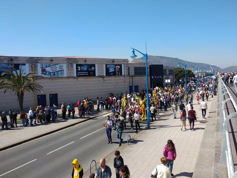 """""""Juan Carlos I"""" gerraontzia: milaka lagun bisitan, ehunka protestan"""