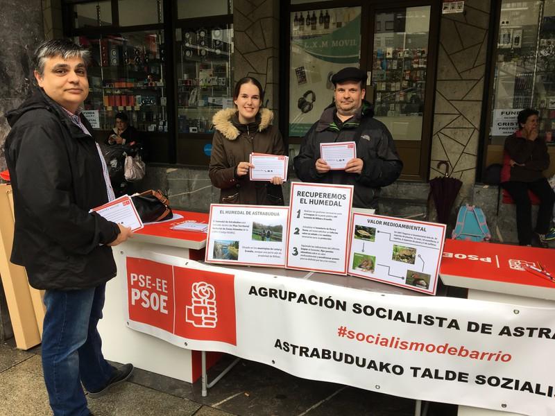 Astrabuduko hezegunea berreskuratzeko hainbat pauso proposatu du PSE-EEk