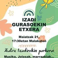 Izadi Gurasoekin Etxera jaia