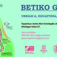 Betiko Getxo, toponimia ibilbidea