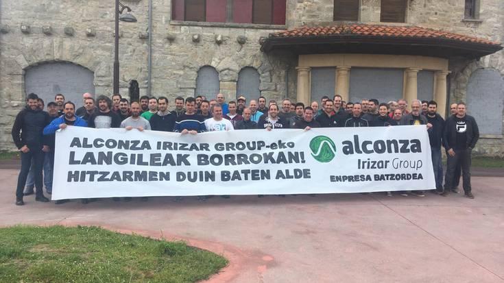 """Mobilizazioei ekin diete Alconzako langileek, Irizar taldeagaz """"hitzarmen duina"""" lortu guran"""