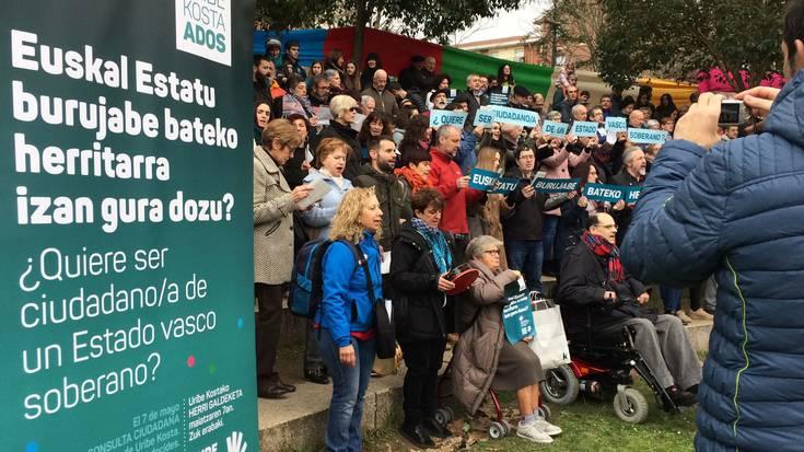 """""""Euskal Estatu burujabe bateko herritarra izan gura dozu?"""", galdetuko dute maiatzaren 7an"""