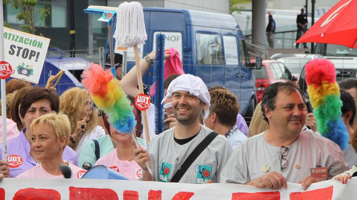 Urdulizko ospitaleko garbitzaileek protesta egingo dute