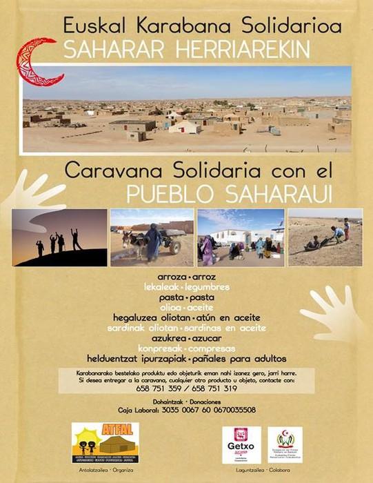 Sahararako elikagaiak batuko dituzte Getxoko udal-kiroldegietan otsailaren 1era arte