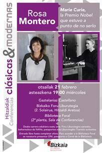 Hitzaldia: Marie Curie, la Premio Nobel que estuvo a punto de no serlo