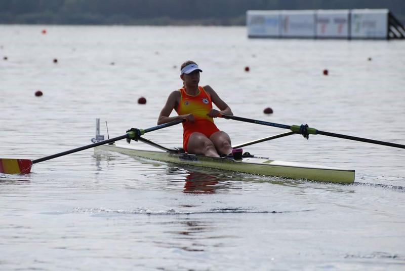 Virginia Díaz Munduko Kopa prestatzen dabil Gironan