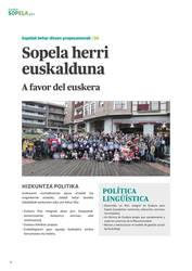 """""""Sopela herri euskalduna izatea nahi dugu"""""""