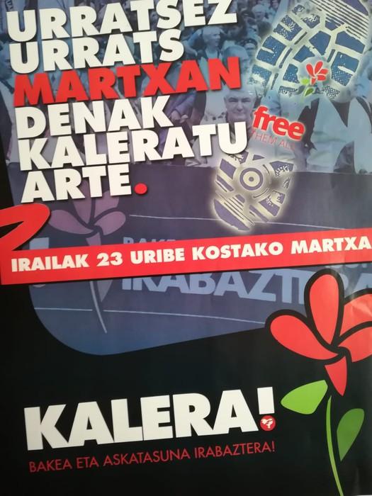Euskal preso, iheslari eta deportatu politikoen aldeko martxa, domekan