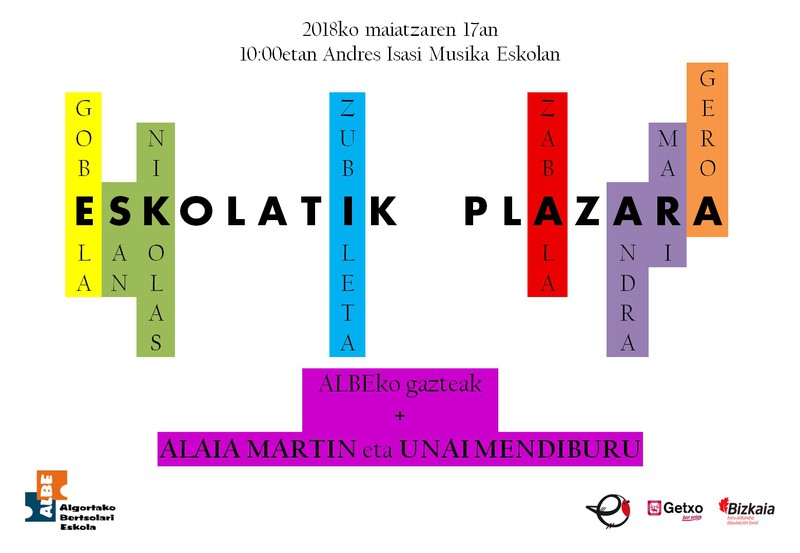 Eskolatik Plazara 2018