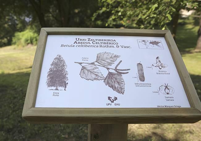 Inauguratu dute EHUko Arboretumeko espezieen seinaleztapen berria
