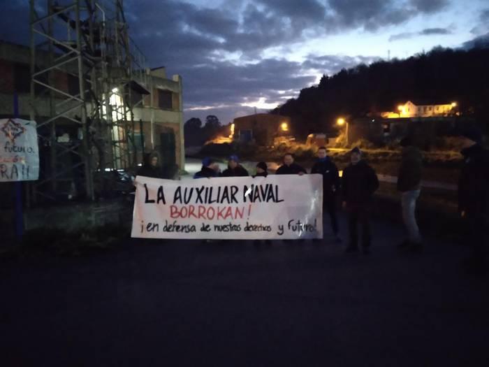 Greba utzi dute La Auxiliar Navaleko langileek, zuzendaritzagaz akordioa lortuta