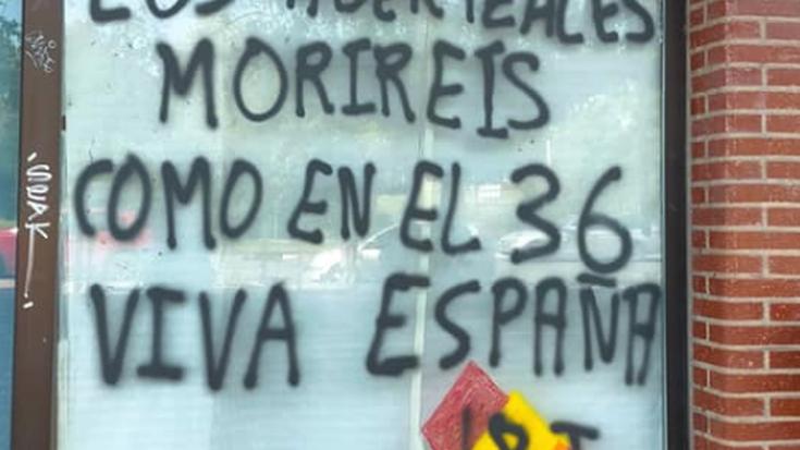 Eskualdeko hainbat txokotan margoketa faxistak agertu direla salatu dute