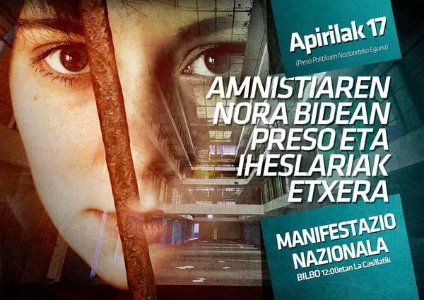 """""""Amnistiaren norabidean, euskal preso eta iheslariak etxera"""""""