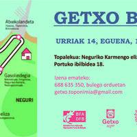 Getxo Barria toponimia ibilbidea